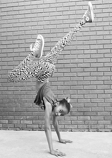 young dancer handstand